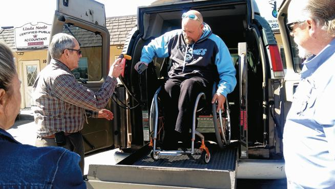 Chad Graham with this new wheelchair accessible van